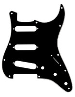11-Hole Modern-Style Stratocaster® S/S/S Pickguard Black