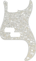 13-Hole Modern-Style Standard Precision Bass® Pickguard White Moto