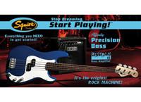 Fender Affinity Set: Squier P-Bass w/ Rumble 15 Amp - Metallic Blue