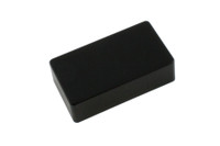 PC-0303-023 Humbucking Pickup Covers No Holes Black Plastic
