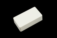 PC-0303-025 Humbucking Pickup Covers No Holes White Plastic