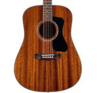 Guild D-125 Dreadnought Acoustic Guitar, Natural -  Solid Mahogany