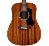 Guild D-125 Dreadnought Acoustic Guitar, Natural -  Solid Mahogany