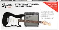 Fender Squier Starter Strat Pack w/ Guitar & Amplifier - Black