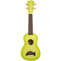MAKALA Dolphin Soprano Ukulele - Green Apple Burst