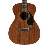 Guild M-120 Mahogany Concert Acoustic Guitar, Natural, with Case