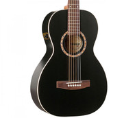 Art & Lutherie Ami Cedar QI Acoustic Guitar - Black, with Gig Bag