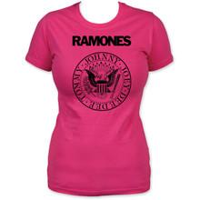 Ramones Presidential Seal Logo Women's Pink T-shirt