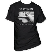 Joy Division Love Will Tear Us Apart Album Cover Artwork Men's Black T-shirt
