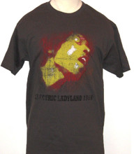 Jimi Hendrix Electric Ladyland 1968 Album Cover Art Men's Gray Vintage T-shirt