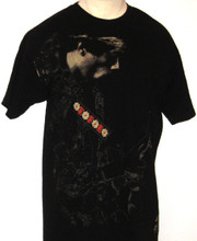 Jimi Hendrix Flower Guitar Strap Men's Black T-shirt