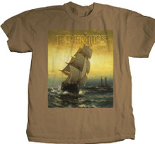 Primus Sailing the Seas of Cheese Album Cover Artwork Men's Brown T-shirt - Front.