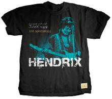 Jimi Hendrix June 1967 Sound Check Photograph by Jim Marshall Men's Black Vintage T-shirt
