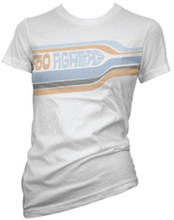 Foo Fighters Logo Women's White Vintage T-shirt