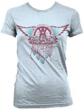 Aerosmith Dream Catcher Feathered Logo Women's White T-shirt