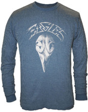 Eagles Greatest Hits Album Cover Artwork Men's Blue Vintage Long Sleeve Thermal Shirt