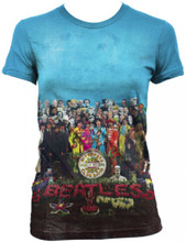 Beatles Sergeant Sgt. Pepper's Lonely Hearts Club Band Album Cover Artwork Women's T-shirt
