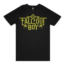 Fall Out Boy Chicago Illinois Logo Men's Black T-shirt
