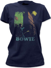 David Bowie Vintage Photograph Women's Navy Blue T-shirt