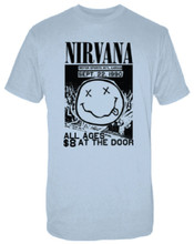 Nirvana Motor Sports International Garage September 22, 1990 Blue Vintage Concert T-shirt