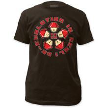 Devo De-Evolution Is Real Band Slogan Men's Black T-shirt