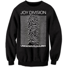 Joy Division Unknown Pleasures Album Cover Artwork Black Crew Neck Sweatshirt