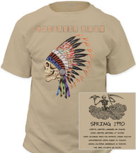 Grateful Dead Spring 1990 Concert Tour Men's Beige T-shirt - Front