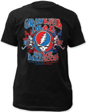 Grateful Dead Avalon Ballroom January 27-29, 1967 Concerts Men's Black T-shirt