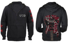Van Halen 5150 with Eddie Van Halen's Frankenstrat Guitar Black Hoodie Sweatshirt