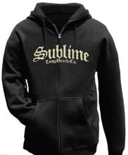 Sublime Long Beach, CA Logo Black Hoodie Sweatshirt