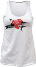 Tom Petty and the Heartbreakers American Girl Self Titled Debut Album Cover Logo Women's White Tank Top T-shirt