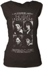 The Velvet Underground Paramount Theatre in Springfield Concert Performance Promotional Poster Artwork Women's Vintage Black Sleeveless T-shirt