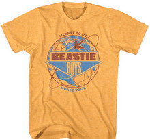 Beastie Boys License to Ill World Tour Men's Yellow Vintage Concert T-shirt