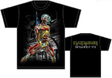 Iron Maiden Somewhere in Time Album Cover Artwork Men's Black T-shirt