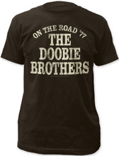 The Doobie Brothers On the Road '77 Men's Black Vintage Concert T-shirt