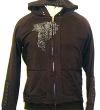 Roar Clothing Eagle Graphic Men's Brown Hoodie Sweatshirt