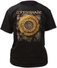 Whitesnake Self Titled Album Cover Artwork Men's Black T-shirt