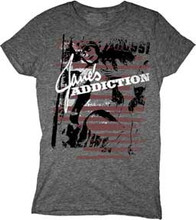 Jane's Addiction Logo Women's Gray T-shirt