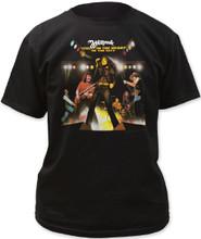 Whitesnake Live in the Heart of the City Album Cover Artwork Men's Black  T-shirt
