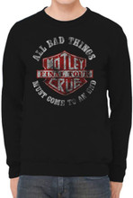 Motley Crue All Bad Things Must Come to an End Final Tour Black Vintage Sweatshirt