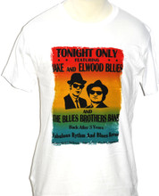 Blues Brothers Movie Film Palace Hotel Ballroom Concert Show Performance Poster Men's White T-shirt