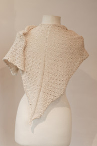 Silk Yarn Knitting Kit. Rain Shawl. Beads.