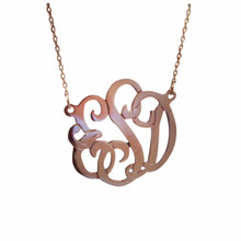 Small Swirly Monogram necklace