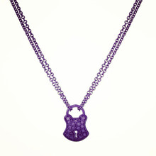 Tiny Diamond Lock to my Heart Necklace
