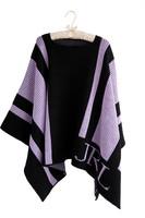 Personalized Striped Blankeet Poncho