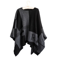 Personalized Check Monogramed Poncho