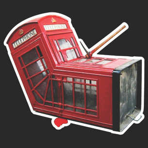 Banksy - Telephone Booth Tee