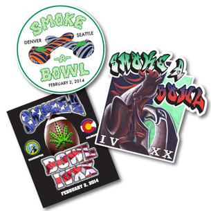 SMOKE-A-BOWL IVXX Sticker Pack -- Benefitting NORML