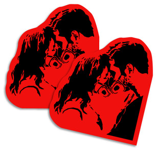 """Graffiti Love"" by Apse. Pack of two Stickers."