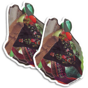 """Heart Mash"" -- by Clarke Curtis. Pack of two Stickers."